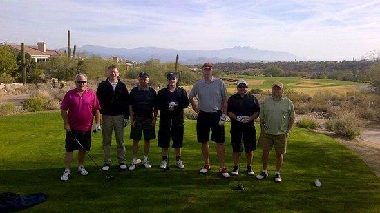 SunRidge Canyon Golf Club: Sunridge Canyon 1st Tee - Day 1 of our week in Scottsdale