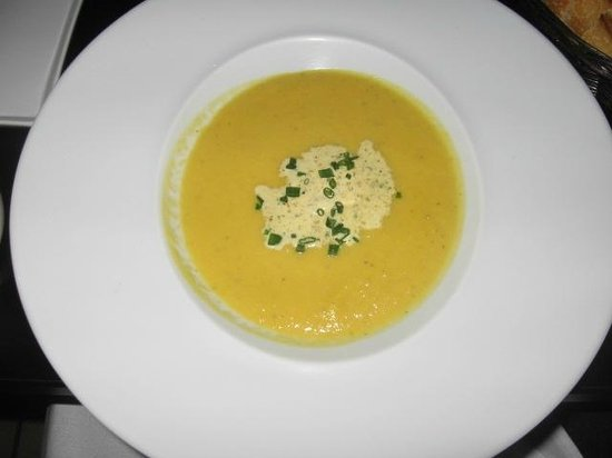 Chez Chose : carrot and cumin soup ( i believe)
