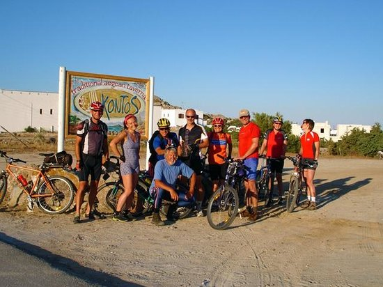 Kontos Restaurant of Aegean Cuisine : our biking friends...