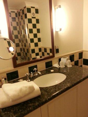 Ramada Resort Cwrt Bleddyn Hotel & Spa: Standard bathroom - nice finish