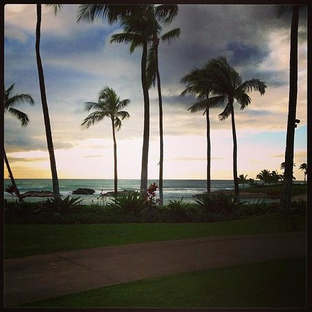 Marriott Ko Olina Beach Club: view from Chuck's restaurant on property