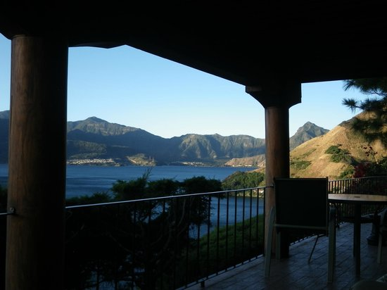 Lomas de Tzununa: View from the porch under the dining terrace