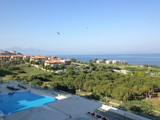 Lavista Boutique Hotel: overlooking the Aegean from our balcony