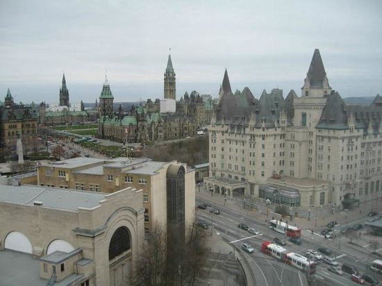 The Westin Ottawa: View from our room. Photo taken November 2012