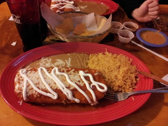 Papas & Beer : Chimichanga...dinner for two!
