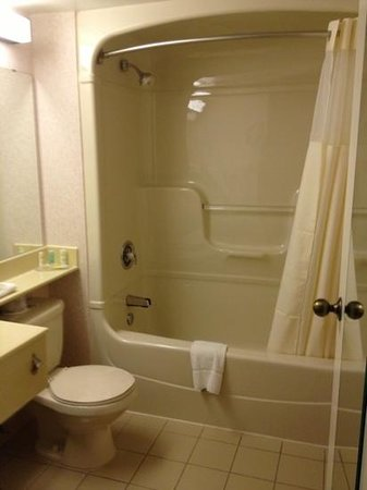Quality Hotel Harbourview: bathroom left a lot to desired as far as comfort. however it was clean