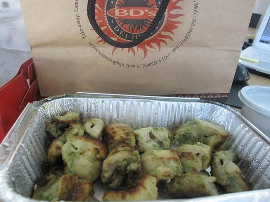 Barbecue Delights - Malai Tikka served with a yoghurt and mint sauce