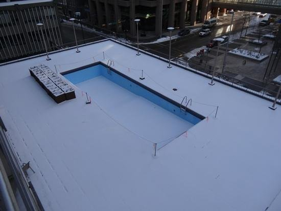 Ramada Plaza Calgary Downtown: a little cold for a swim