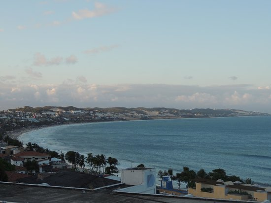 Bamboo Flat: Vista da Praia de Ponta Negra, do terraço da pousada