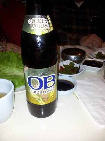 New Seoul Garden Restaurant: A very delicious beer. I didn't know beer could taste that good!