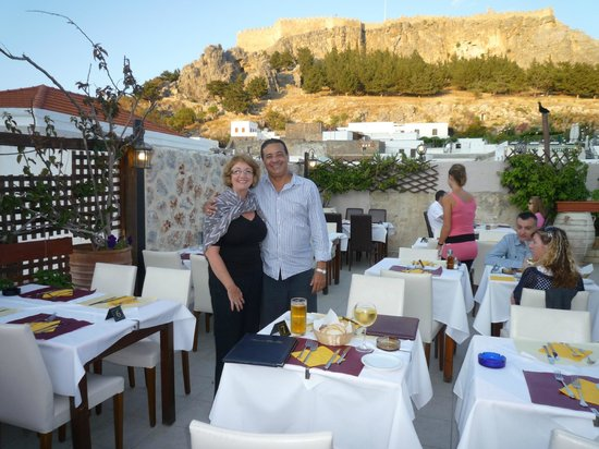 Lindos Mare Hotel : Eating out was a real thrill - many, many good meals