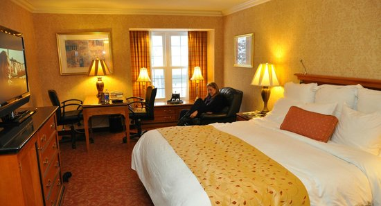 The Del Monte Lodge Renaissance Rochester Hotel & Spa: Photo of our standard room.