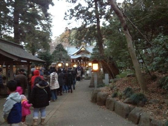 Kashiwa, Japan: 初詣の参拝客の様子