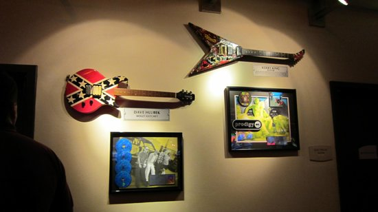 Seminole Hard Rock Casino Tampa: Guitars of Famous Musicians.
