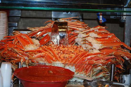 Seminole Hard Rock Casino Tampa: Seafood At The Fresh Harvest Restaurant's Buffet.