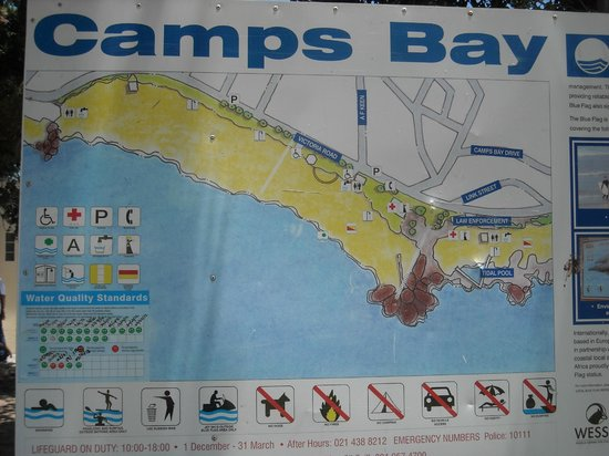 Camp's Bay Beach: Camps Bay sign