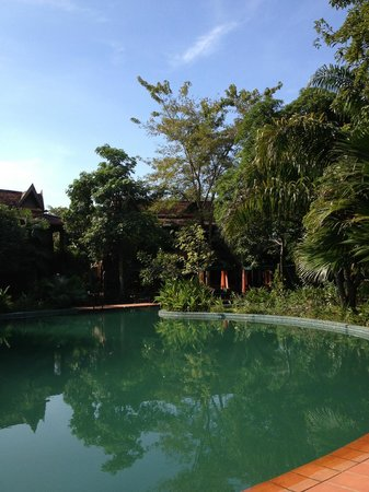 Angkor Village Resort: end of the 'lazy river' pool