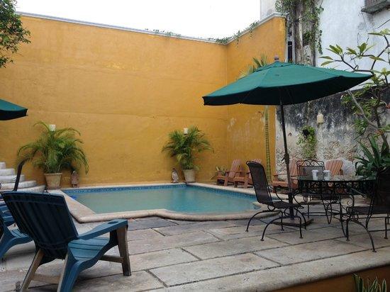 Luz En Yucatan: Pool/patio.