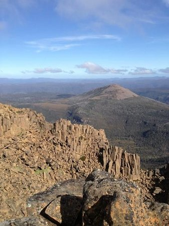 Wilderness Expeditions Tasmania Pty Ltd: View looking south from the summit of Cradle Mountain.