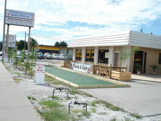 Goodfellas Cafe & Winery: The Clark road frontage, looking to the west.
