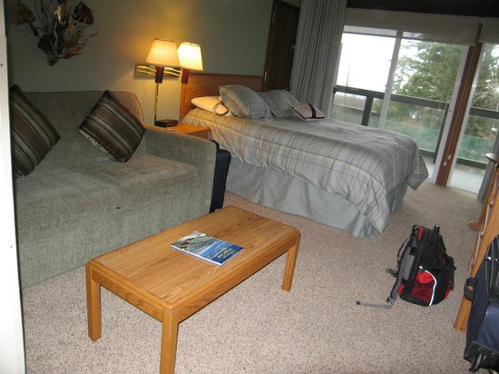 Inn at Otter Crest: sofa bed area.