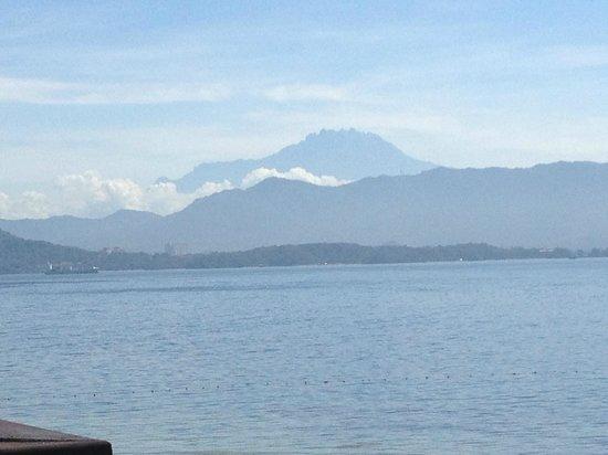 Gaya Island Resort: mount kinabalu from private deck