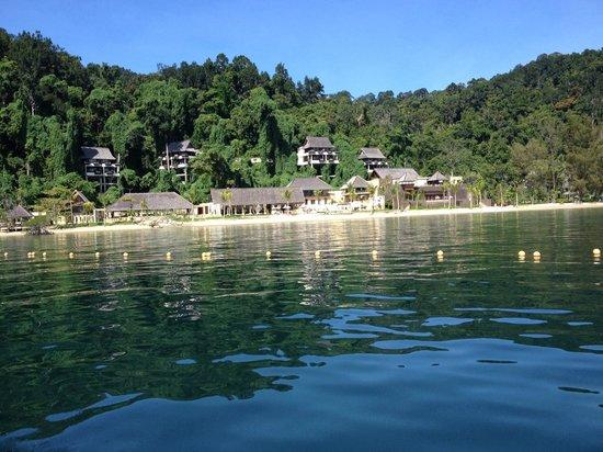 Gaya Island Resort: arriving