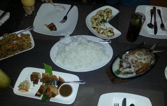 Oyster Bay Seafood Restaurant: Actual food served