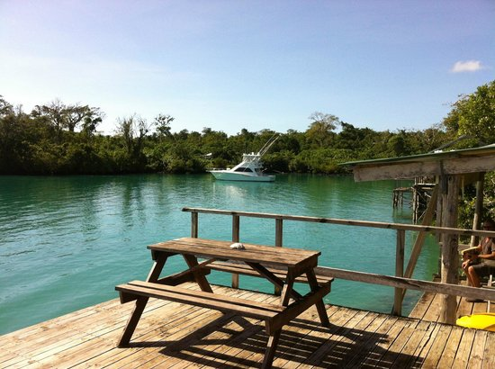 Lusia's Lagoon Chalets : View over Lagoon from deck