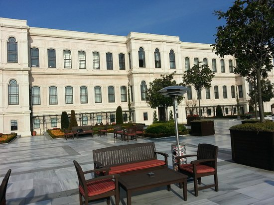 Four Seasons Istanbul at the Bosphorus: The Palace Building from the terrace