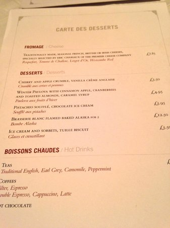 Brasserie Blanc: The Dessert Menu