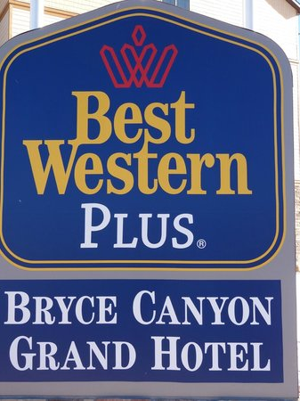 Best Western Plus Bryce Canyon Grand Hotel: Hotel Sign