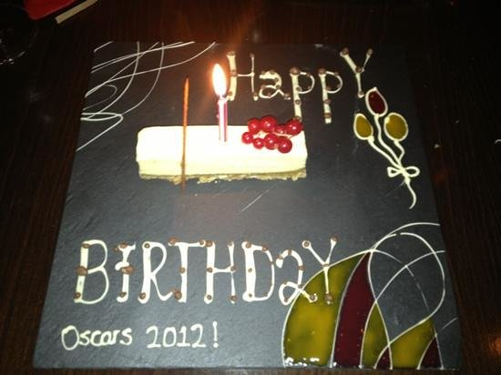Oscar's: my birthday dessert!