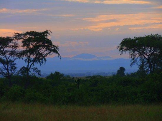 Sunset at Queen Elizabeth National Park