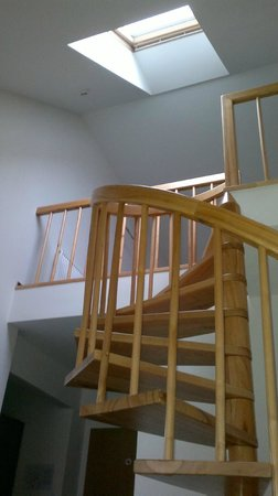 Palangos Juze: Spiral staircase to second level