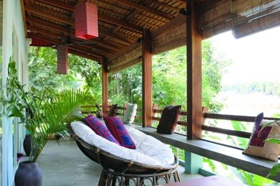 Ock Pop Tok Villa: Room balcony