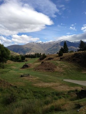 Arrowtown Golf Course: #18 tee box at Arrowtown GC