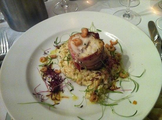 The Black Swan: monkfish and risotto-yum!