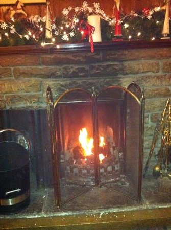 The Black Swan: log fire-great after a long day walking!