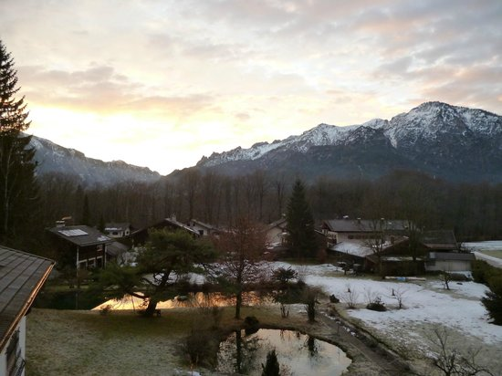 Pension Quellenhof-Peter: Vue de la chambre (matin)