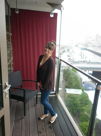 Clayton Hotel Cork City: Me on the balcony.
