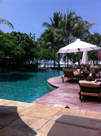 The Royal Beach Seminyak Bali - MGallery Collection: view from the sunbed overlooking the ocean