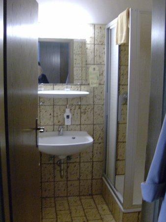 Landhotel Henkenhof: kleines badezimmer