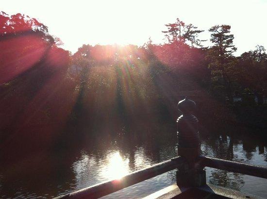 Matsue Castle Town : お堀に架かる橋の上から