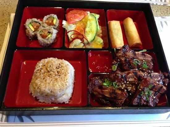 Osaka Hibachi Restaurant & Sake Bar: bbq short rib bento box