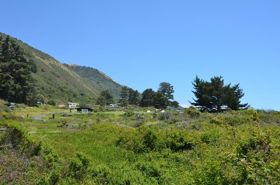 Kirk Creek Campground: View of the whole site