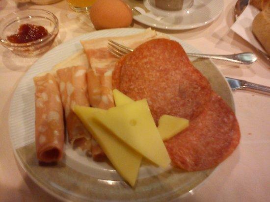 Michelangelo Venice Hotel: colazione salumi