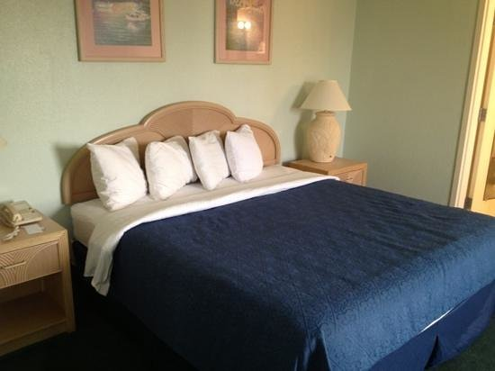 Cocoa Beach Suites: king bed