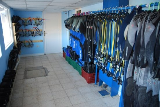 Scuba Tribe diving center: Equipment room
