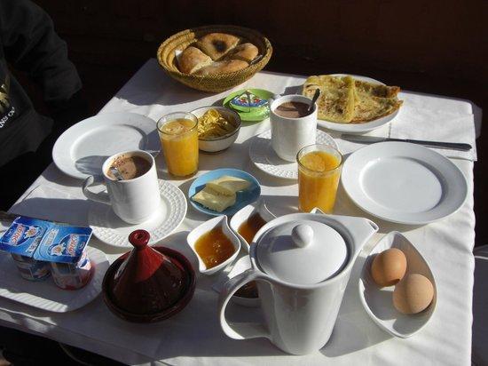 Riad Eden: les petits déjeuners copieux !
